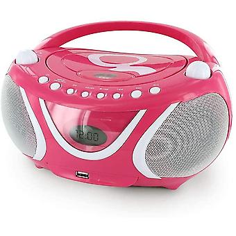 HanFei Gulli Radio/Tragbarer CD-/MP3-Player fr Kinder, mit USB-Port