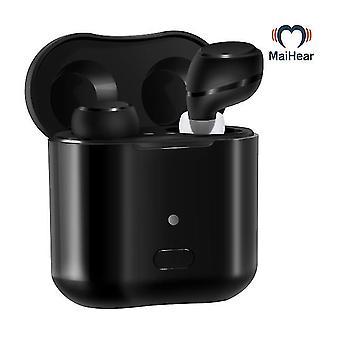 Apparecchio acustico auricolare invisibile wireless ricaricabile per adulti seniors scatola di ricarica a contatto magnetico
