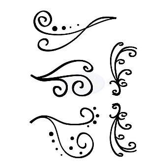 Polkadoodles klar stempel - fantasifull blomstrer A6