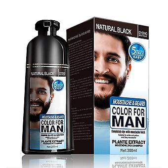 Natural Long Lasting 200ml Permanent Beard Dye Shampooing