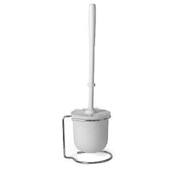 toilet brush 12 x 39 cm steel white 2-piece