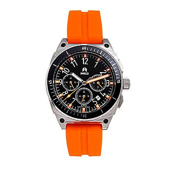 Shield Sonar Chronograph Strap Watch w/Date - Orange