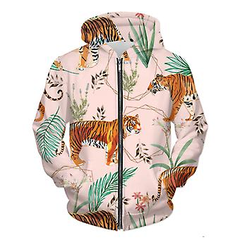 Sudadera con capucha con cremallera Tropical & Tiger Unisex