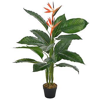 vidaXL Sztuczna roślina Strelitzia z czerwonym garnkiem 100 cm