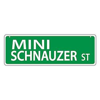 """Street Sign, Muovi, Mini Schnauzer Street, 17"""" X 6"""""""