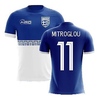 2020-2021 اليونان بعيدا مفهوم كرة القدم قميص (Mitroglou 11)