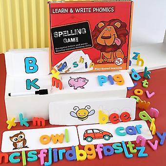 Englanti Puinen palapeli letter board set