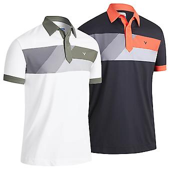 Callaway Golf Mens 2021 2021 Gradient Colour Block Wicking Golf Polo Shirt