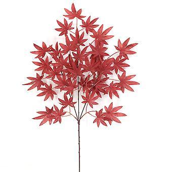5Pcs decoración de arreglo de flores de hoja de arce artificial deja flor seca flor falsa flor