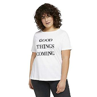 TOM TAILOR MY TRUE ME Sequinstail T-Shirt, 10315-Whisper White, 44 Woman