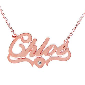 Kigu Chloe - Necklace with heart-shaped pendant, adjustable, in 18 ct rose gold plated packaging