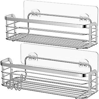 FengChun Duschkorb aus Edelstahl Duschablage ohne Bohren Duschkorb zum hängen 2 Pack Dusche Ablage