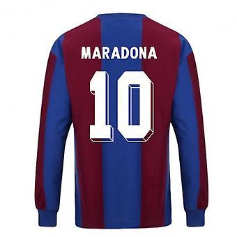 Poängdragning Barcelona 1974 Långärmad Retro Fotbollströja (Maradona 10)