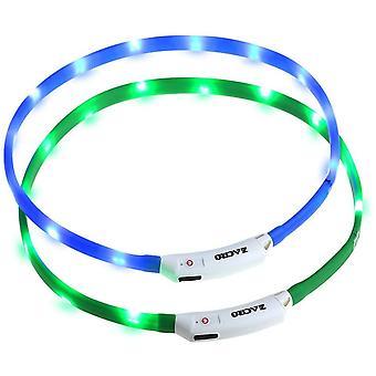 leuchthalsband Hund 2 Stück hundehalsband Leuchtend USB Wiederaufladbares und Längenverstellbareres