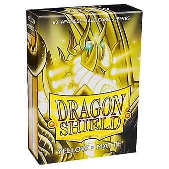 Dragon Shield Matte Yellow Japanese Size Card Sleeves - 60 Sleeves