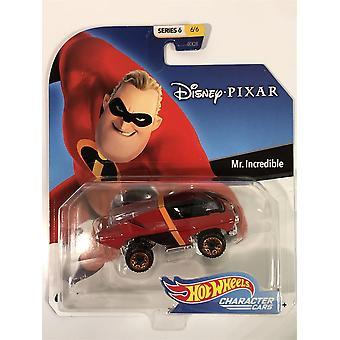 hot hjul karakter biler mr utrolig disney pixar 1:64 skala ggx65