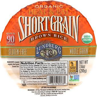 Lundberg Rice Bowl Rte Shrt Grn Br, Case of 12 X 7.4 Oz