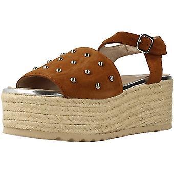 Espadrille sandalen geel 78833 kleur leer