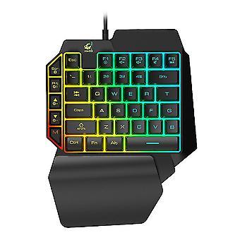 1pc K15 Single Hand Tastatur Kompakte Tastatur