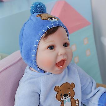 55Cm élethű kézzel készített baba puha test bebe baba újjászületett baba egy fiú fogakkal baba rugalmas végtagok