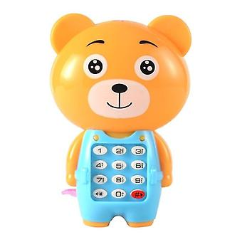 Dziecko Elektroniczny telefon Toy Cartoon Light Miga muzyka telefon komórkowy