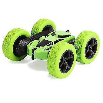 Control remoto doble cara Tumbling y tracción en las cuatro ruedas coche todoterreno (verde)