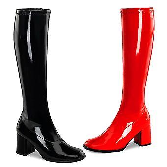 Funtasma Apparel & Accessoires > Costumes & Accessoires > Bottes costume > Femmes GOGO-300HQ Blk-Red Pat