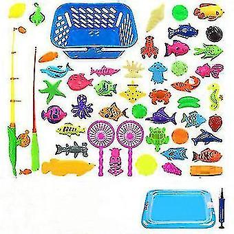 Pêche magnétique pour enfants Parent-enfant interactive Jouets Jeux Enfants 2 Rod 10 Poisson 3D 1 Piscine Eau