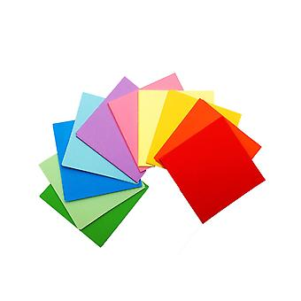 50 Sheets of 4 Inch (100mm) Assorted Coloured Origami Paper