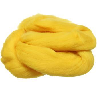 100% ren ny ull for nål filting, 50g - gul