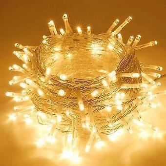 Luci a corda lanterna a led da 10 metri, decorazione per matrimoni di Natale (bianco caldo)