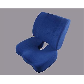 Cushion Memory Foam Office Chair Cushion Cushion Beautiful Buttock Cushion(BLUE)