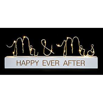LED String Words Mr & Mrs