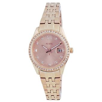 Fossil Scarlette Micro Diamond Acentos Rose Gold Quartz Es5038 Women's Watch