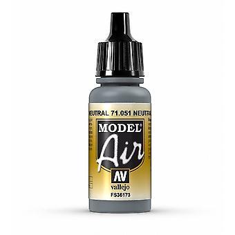 Vallejo Model Air 51 Neutral Grey - 17ml Acrylic Airbrush Paint