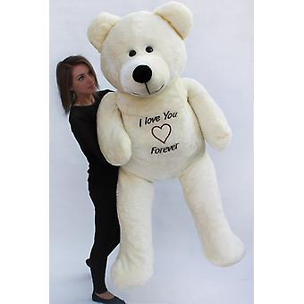 Ours en peluche XXL - 180 cm - Love you forever white