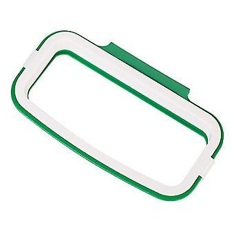 Trash cans wastebaskets scandinavian design over cupboard or door hanging trash bag holder green