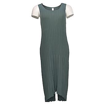 MarlaWynne Kjole Ærmeløs plisseret strik grøn 655546