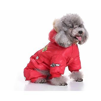 Pet Dog Clothes Dog Clothes Down Jacket Air Force Uniform Clothes Pet Dog Clothes Four Legged Clothes Air Force Clothes Pet Clothes Winter Clothes (re