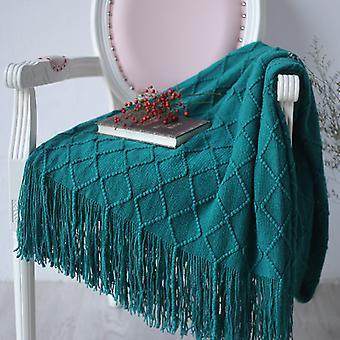 بسيطة وأنيقة أريكة بطانية دافئة مع قطعة قماش بطانية كبيرة