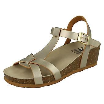 Ladies Down To Earth Peep Toe Block Sandals