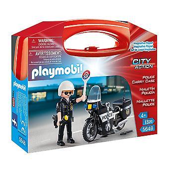 5648 Playmobil Polizei Tragetasche