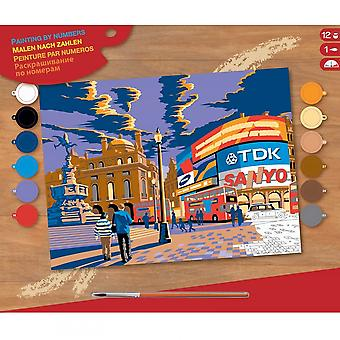 Sequin Art London Picadilly Circus Large Paint By Numbers