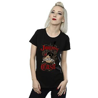 Johnny Cash Women's Rock Guitar T-Shirt