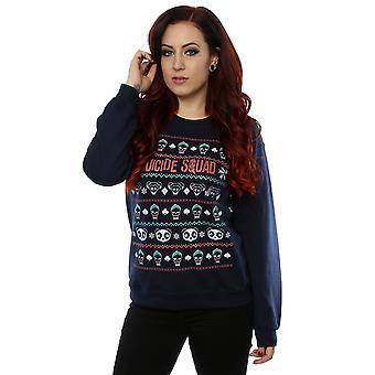 Suicide Squad kvinnors tecken jul tröja