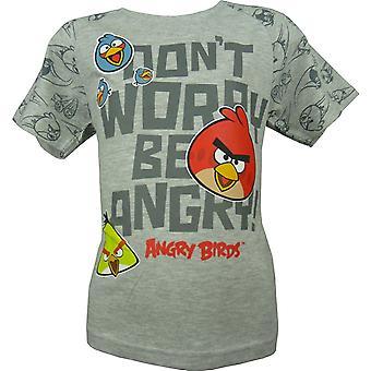 Сердитые птицы мальчиков коротким рукавом