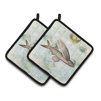 Carolines Treasures  SB3042PTHD Fish   Pair of Pot Holders