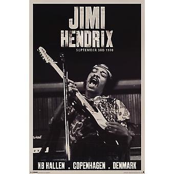 Jimi Hendrix - Copenhagen affisch affisch Skriv