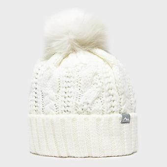 New Peter Storm Women's Daisy Bobble Hat White