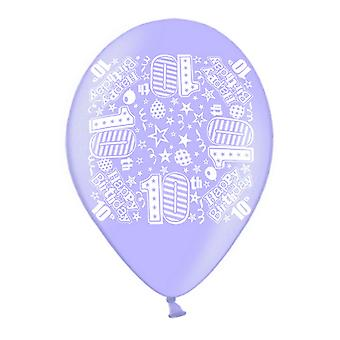 Simon Elvin 10 Inch Latex Balloons (Pack Of 10)